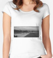 Low Tide Near Pebbly Beach Women's Fitted Scoop T-Shirt