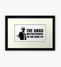 Share The Road  Framed Print