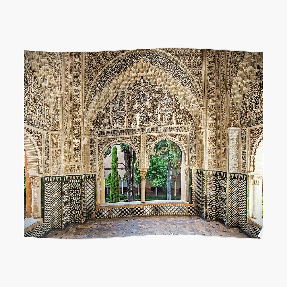 Daraxa's Mirador, Nasrid Palaces, The Alhambra, Granada, Spain Póster