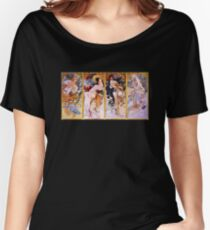 'The Four Seasons' by Alphonse Mucha (Reproduction) Women's Relaxed Fit T-Shirt
