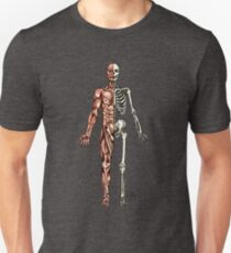 Half Muscle - Half Skeleton Unisex T-Shirt