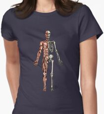 Half Muscle - Half Skeleton Women's Fitted T-Shirt