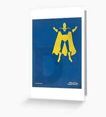 Doctor Fate - Superhero Minimalist Alphabet Print Art Greeting Card