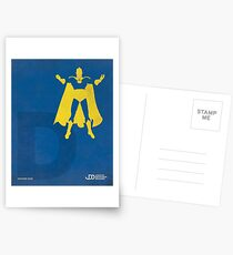 Doctor Fate - Superhero Minimalist Alphabet Print Art Postcards