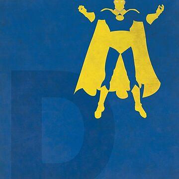 Doctor Fate - Superhero Minimalist Alphabet Print Art by justicedefender