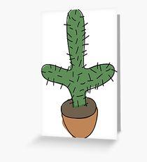 sketchy cactus Greeting Card