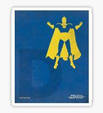 Doctor Fate - Superhero Minimalist Alphabet Print Art Sticker