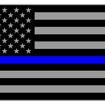 Basic Thin Blue Line American Flag by Runesilver