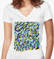 squiggles Women's Fitted V-Neck T-Shirt