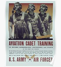 Vintage poster - Aviation Cadet Training Poster