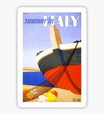 Vintage Italy Travel Poster Sticker