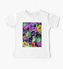 """COLORFUL FLOWER"" Art Deco Print Baby Tee"
