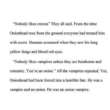 Onionhead: First Paragraph by HanaDavis