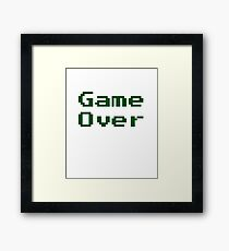 Game Over Retro Game T-Shirt Framed Print