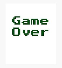 Game Over Retro Game T-Shirt Photographic Print
