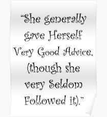 Very Good Advice Poster