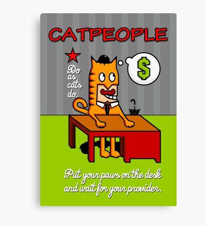 Cat People VRS2 Canvas Print