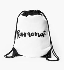 Simple Ramona Logo Drawstring Bag