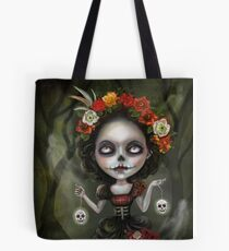 Katrina Day of the Dead Skull Girl Tote Bag