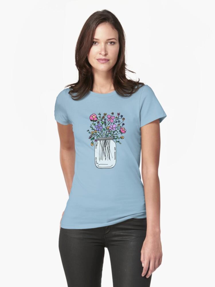 Mason Jar with Flowers by Ruta Rudminaite