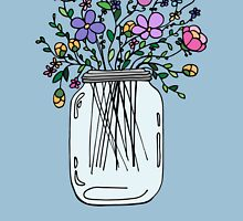 Mason Jar with Flowers by Ruta Rudminaite