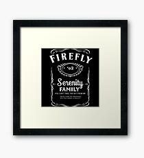 Firefly Whiskey Framed Print