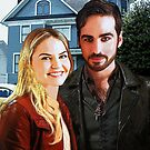 "Captain Swan ""At Home in Storybrooke"" by Marianne Paluso"
