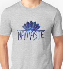 Galaxy Namaste Yoga Lotus Flower Unisex T-Shirt