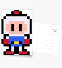 Pixel Bomberman Postcards
