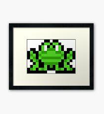 Pixel Frogger Framed Print
