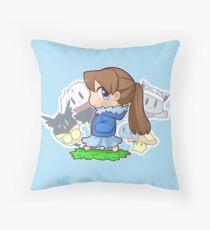 Binoftrash with friends Throw Pillow