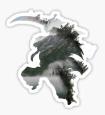 FOREST INUYASHA ABSTRACT Sticker