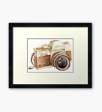 watercolor camera Framed Print