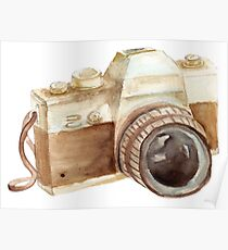 watercolor camera Poster