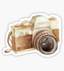 watercolor camera Sticker