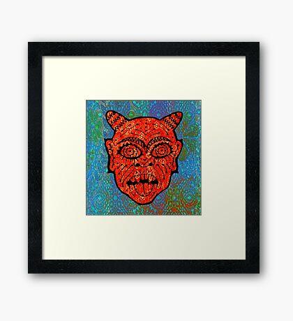 'Handsome Devil Mask #2' Framed Print