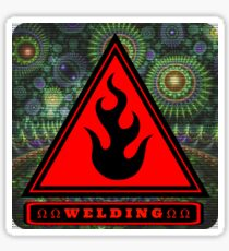 Ω Welding Fire Triangle Ω Sticker