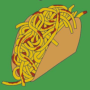 Spaghetti Taco by Noveltee-Shirts