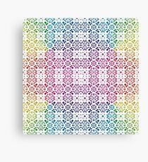 Batik Rainbow 100 - White Canvas Print