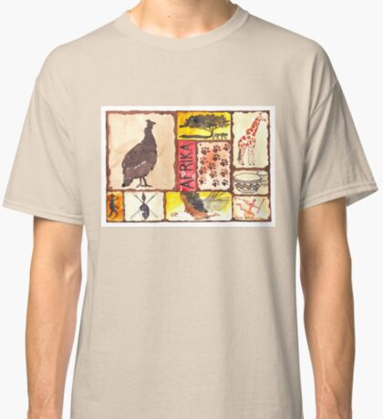 Lodge décor - 'n Afrika Collage en Bosvelddrome | An African Collage Classic T-Shirt