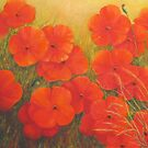 """Poppies - Tuscany"" by Allison  Shaw"