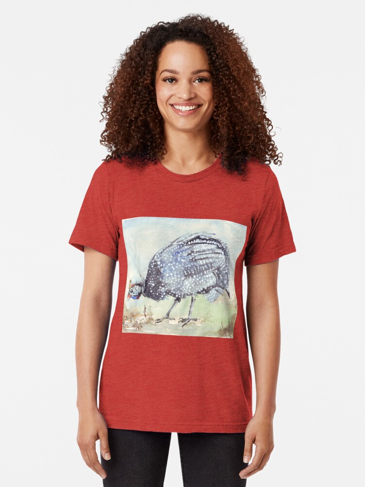 Alternate view of Listen to the Guinea Fowl Tri-blend T-Shirt