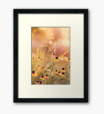 Yellow Flowers Childhood Memories Framed Print