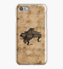 Antique Grand Piano on Vintage Music Sheet iPhone Case/Skin