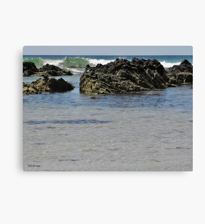 Rocky Waves Canvas Print