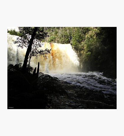 Dip Falls in Flood Photographic Print