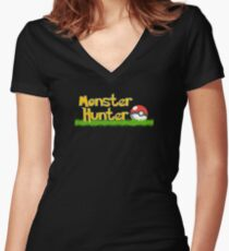 Monster Hunter Women's Fitted V-Neck T-Shirt