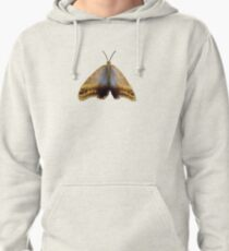 Real Butterfly No. 4 - Dusty Gold and Blue Pullover Hoodie