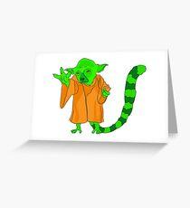 Yoda lemur Greeting Card