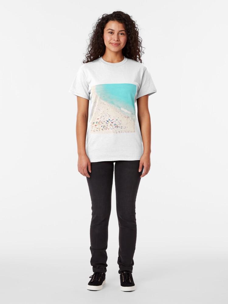 Alternate view of beach love square Classic T-Shirt